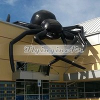 halloween oxford cloth available giant horrific halloween black inflatable spider for building roof halloween decoration - Giant Halloween Spider