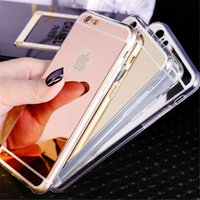 Wholesale Gold Plated S4 - Luxury Bling Mirror Case Plating Clear Cases Soft TPU Shockproof Cover For LG G6 G5 G4 G3 V20 V10 Sumsung S5 S4 S3 Oneplus5