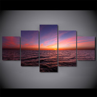 5 piezas / set Sunset Crepúsculo Sky Canvas Paintings Home Decor Wall Art Enmarcado Carteles HD Prints Fotos Pintura