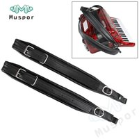 Wholesale Accordion Bass Straps - Wholesale- Thick Accordion PU Leather Shoulder Straps for 80-120 Bass
