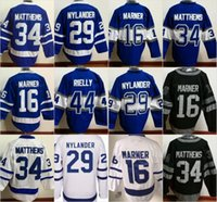 Wholesale Flash Logo - Toronto Maple Leafs Jersey Men's #16 Mitchell Marner #34 Auston Matthews #29 William Nylander 100% Stitched Embroidery Logos Hockey Jer