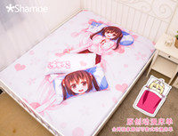 Wholesale Anime Cartoon Doma Umaru Milk Silk Mattress Cover Fitted Sheet Fitted cover bedspread counterpane No