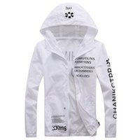 Wholesale Sports Wear For Adult - Man Women Fashion Jackets Spring Thin Windbreaker Letters Printed Long Sleeved Hooded Coats Sports Wear Clothing For Adult Men