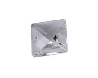 piezas de cristales de araña de cristal al por mayor-nuevo llega 20 PCS 2 hoyos Claro Crystal Glass Square Chandelier Parts 20mm # 92397 for sale