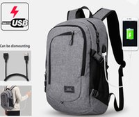 Wholesale fashion male business backpack External USB Charge bag Water proof college student bag laptop bag travel sport backpacks camping hiking bags