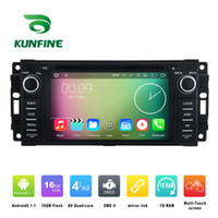 Quad Core 800 * 480 Android 5.1.1 GPS di lettore DVD dell'automobile di navigazione per Jeep Commander 2008-2010 radio 3G Wifi Bluetooth KF-V2261Q