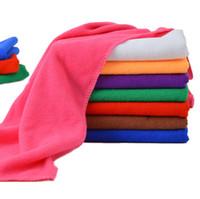 Wholesale Cotton Polyester Wash Cloths - 50PCS  lot High Quality Microfiber Cleaning Towel Car Washing Nano Cloth Dishcloth Bathroom Clean Towels Rectangle 30x70cm