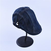 Wholesale Church Beret Hats For Women - Jeans Hats for Men Women High Quality Casual Unisex Denim Beret Caps OutDoors Flat Cap for Cowboy Cotton Berets Caps For Men