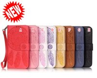 Wholesale chinese wind chime resale online - Wind chimes Wallet Leather Case For Samsung Galaxy S7 S6 EDGE S8 NOTE Iphone X XS Max XR SE S S PLUS Strap Stand Mandala Money Cover