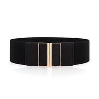 ingrosso cintura nera beige-2016 Nuove cinghie con fibbia elastica per accessori abito donna Cintura nera cintura Z-2383