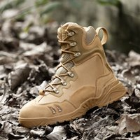 Wholesale Desert Training Boots - Men's Outdoor Combat Boots Special Forces Desert Training Side Zipper Army Combat Warm Tactical Snow Boots