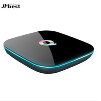 Wholesale Dual Core Xbmc - Best 2GB 16GB Android TV Box PRO Q box Android 6.0 Amlogic S905X Dual WiFi H.265 HDMI 2.0 4k2k XBMC Fully Loaded Streaming Boxes