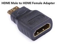 Wholesale Types Vga Connectors - Mini HDMI(Type C) Male to HDMI(Type A) Female Adapter Connector new For HDTV