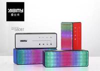 aibimy lautsprecher großhandel-AIBIMY MY-580BT LED Flash Bluetooth Lautsprecher Musik Drahtlose Intelligente Freisprecheinrichtung Mit FM Radio Unterstützung TF USB 3,5mm Audio Mit Box