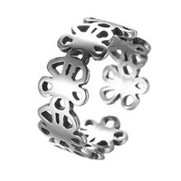 Celtic original graduation - 5pcs Original Sterling Silver Flower Rings Women Jewelry DIY Making Knuckle Ring Best Friends Graduation Ring