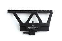 Wholesale Ak 47 Rail Mounts - Quick Detach AK Rail Scope Mount Base Picatinny Side Rail Mounting For AK 47 AK 74 Black
