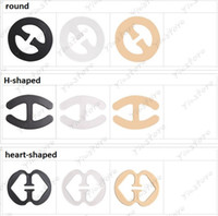 Wholesale Bra Underwear Buckle - Invisible Oval Shape Bra Buckle H-shape heart-shape Perfect Adjust Bra Clasp, Clip Cleavage Control Strap Buckle Underwear 500pcs lot