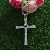 Wholesale Wholesale Fast Furious - The Fast and the Furious necklace Toledo Crystal Christian cross Pendant Necklaces Jesus charm movie jewelry for Christmas gift BY DHL160117