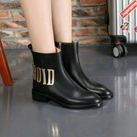 Wholesale Rubber Shirts - New Fashion Women's Winter Warm shirt boots 100% Genuine Leather Casual shoes Brand Woman Martin boots