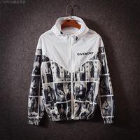 Wholesale Suiting Coats For Men White - 2016 Hooded Jacket For Men And Women Hip Hop Sport Suit Parkas Stitching Sunscreen Windbreaker Assault Zipper Casual Men Coat