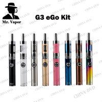 Wholesale Ego Battery Passthrough Kits - Original Greensound GS G3 Peb Starter Kit 900MAH eGo Vaporizer Battery Airflow Control Tank Atomizer with USB Passthrough Dual Charger Ports