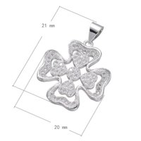 Wholesale Brass Cross Charms - CZ Micro Pave Brass Pendant Cross Platinum Plated DIY Charm Bracelet Micro Inlay Cubic Zirconia & Hollow 21x20mm Hole: Approx 3.6mm