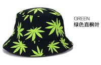 Wholesale New children Fashion Maple leaf pattern Caps Cool fisherman hat Bucket hats For Men Women caps colors