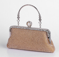 Wholesale Sweet Color Diamond - Aweet Fashion Lovely Sweet Women Evening Bags Evening Party Purse 3 Color Women Clutch Box Women Messenger Bags