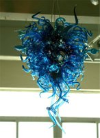 Antique Murano Glass Chandeliers Fancy Blue Color Blown Glass Custom Made Bedroom Decor Lustre Light
