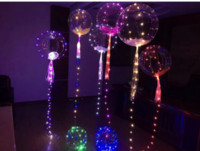 Wholesale New Decorative Led Light - 2017 New bobo balloon led line string balloon light with colored light Decoration for Fastive Party Christmas Halloween Supplies