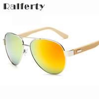Wholesale Sport Sunglases - Wholesale-2016 Pilot Wood Sunglasses Men Women Brand Designer Mirror Sun Glasses UV400 Gold Driving Sports Original Bamboo Sunglases Male
