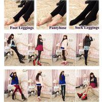 Wholesale Super Slimming Tights - 3 Styles Fleece Leggings Warm Winter Faux Velvet Lined Legging Thick Slim Leggings Tights Super Elastic Pantyhose CCA7671 500pcs