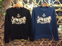 Wholesale European Clothing Men Jacket - Autumn and winter new fashion men's clothing cotton sweater animal pattern long-sleeved jacket European popular brand men's clothing