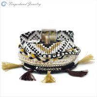 Wholesale Ipanema Bracelets - Wholesale-FINGERHAND Magnetic Wrap Braided Brazilian Bracelet Multilayer Bohemia Ipanema
