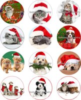 Wholesale Dog Christmas Charms - Free shipping cat dog christmas Snap button Jewelry Charm Popper for Snap Jewelry good quality 12pcs   lot Gl233 jewelry making