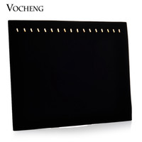Wholesale Display Stands Shelf - Velvet Jewelry Display Stand Necklace Black Display Shelf vocheng jewelry NN-427