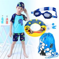 Wholesale Boys Swim Suits - 2017 Promotion Boys Character Polyester New Children's Swimsuit Boy Swimming Suit Sleeved Sunscreen