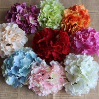 Wholesale Needle Home Craft - 16Cm Artificial Hydrangea Flower Head Big Silk Flower Craft Wedding Home Christmas Decoration Needle Art Decors Diy Accessories