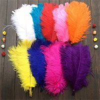 Wholesale Quality Party Decoration - wholesale10 Pcs 14-16Inches 35-40cm High Quality Ostrich Feathers Used For DIY Jewelry Craft Making Wedding Party Decor 11 Colors