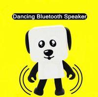 Wholesale Party Robots - Portable Wireless Speaker Cute Bluetooth Speaker Dance Robot Dog Bluetooth Wireless Smart Dance Robot Dog Electronic Toys CCA8368 20pcs