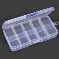 New Arrive Slots Compartiment Collier Bijoux Adjustable Clear Storage Box Case Holder Craft Organizer LZ0207