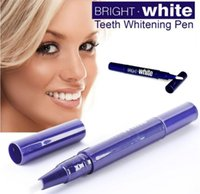 Wholesale Bright White Teeth - free shipping 500 pcs lot teeth whitening pen,bright white, with CE SGS MSDS.mint,peroxide free,safe for home use