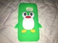 Wholesale Silicone Cover Penguin - 3D Penguin Soft Silicone Case For Iphone 6 6S 7 Plus Samsung Galaxy 2017 A3 A5 S7 EDGE Huawei Ascend NOVA P9 Lite Cartoon Phone Cover 350pcs