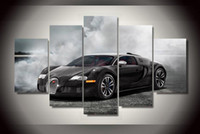 Wholesale Oil Abstact - 5Pcs With Framed Printed sang noir car Painting on canvas room decoration print poster picture canvas framed abstact oil paintings
