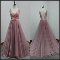 Wholesale Design Discounted Prom Dresses - Top Sale Newly Designed Tulle V-Back Aline Discount Evening Special Occasion Dresses Party Prom Dresses 2017