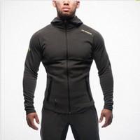 Wholesale Men Wearing Boys Clothes - Wholesale-Gym Aesthetics Revolution Gym Snapback Clothing Hoodie Men Bodybuilding Pullover Sweatshirt Fitness Jogging Sport Wear For Boys