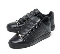 Wholesale Rubber Express - Wholesale 2017 new good black leather Maison Martin Margiela sneaker high quality men Leather High-Top Casual shoes Free Express 36-46