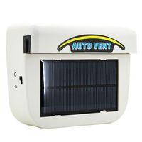 Wholesale Fan Energy Saving - New Car Energy Saving 1W Solar Powered Car Auto Vehicle Portable Heater Heating Cooling Fan Air Vent Ventilate