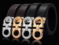 Wholesale Original Belt Buckles - original designer Big buckle belts Men luxury Buckle belt top fashion mens Genuine leather belts free shipping