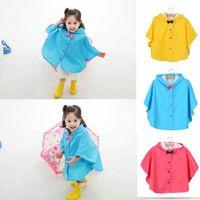 Wholesale Waterproof Hooded Poncho - Children's Emergecy Rain Poncho Cute Kids Bow Hooded Rain Coat Waterproof Outfit Jacket for Age 3-6